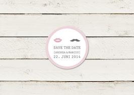 Save the date | Magnet | Lippen & Moustache | No 2