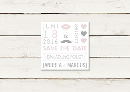Save the date | Magnet | Quadrat | No 6