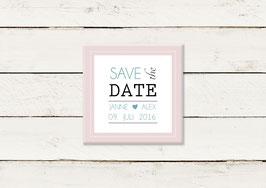 Save the date | Magnet | Quadrat | No 3