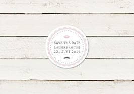 Save the date | Magnet | Lippen & Moustache | No 4