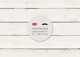 Save the date | Magnet | Lippen & Moustache | No 3