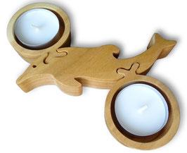 Kerzenständer Delphin