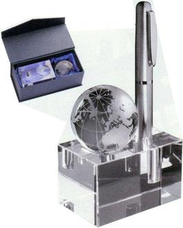 Glasständer für Schreibtisch