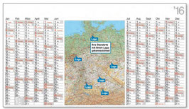 Wandplaner mit Deutschlandkarte