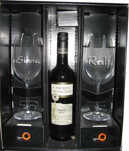 Weingläser im Geschenkkarton