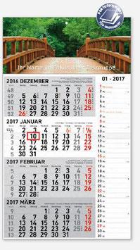 4-Monatskalender mit Memoleiste