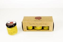 Mosterd mini pakket 3 x 50ml, mosterd fijn, mosterd grof en de Gooische champagne mosterd
