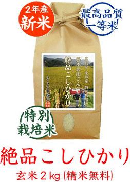 絶品こしひかり 玄米2kg