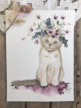 "Aquarelle ""Gaston Le Chaton"""