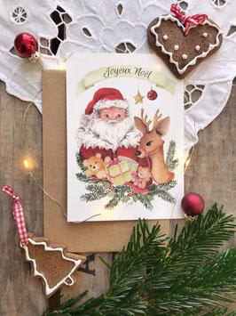 """Carte postale  """"Papa Noël"""""""