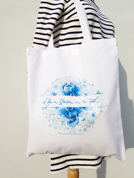 "Tote bag ""Like a flower in a pool"""