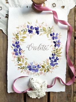 """Couronne de fleurs """"Violette"""""""