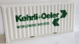 H0 20 ft. Container Kehrli und Oeler weiss