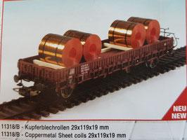 """H0 """"Kupferblech-Rollen"""""""