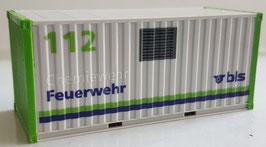 """H0 20 ft. Container BLS Feuerwehr """"Chemiewehr"""" mit internationaler Notrufnummer 112"""