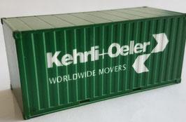 H0 20 ft. Container Kehrli und Oeler grün