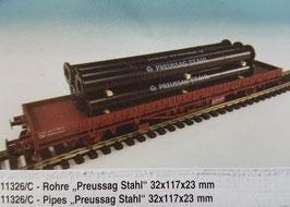 """H0 Rohre """"Preussag-Stahl"""""""