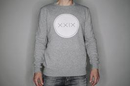 Classic Sweatshirt Grau / Weißer Aufdruck