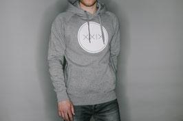 Pullover Hoody Grau / Weißer Aufdruck