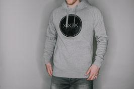 Pullover Hoody Grau / Schwarzer Aufdruck