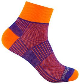 WrightSock Coolmesh II Quarter - Classic - orange/blau