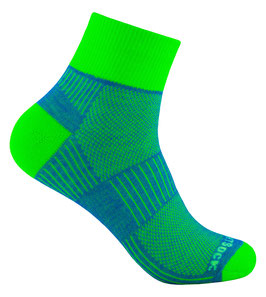 WrightSock Coolmesh II Quarter - Classic - grün/blau