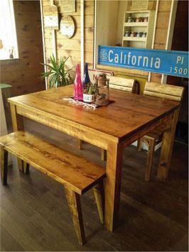 古材風家具ダイニングテーブル120cm