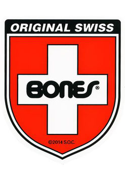 Bones Swiss Shield Sticker