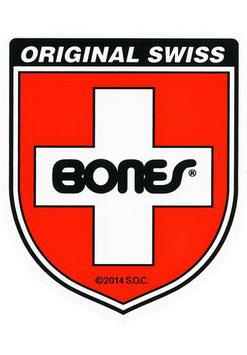Bones Swiss Shield Sticker
