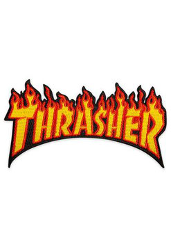 Thrasher Flam Logo Patch