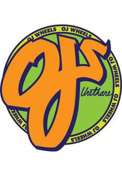 OJ Wheels Sticker