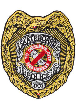 Powell Peralta Skateboard Police Patch