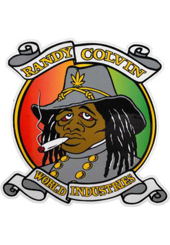 World Industries Randy Colvin Rasta Rebel Sticker