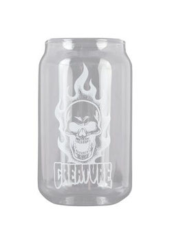 Creature Bonehead Beer Can Glass