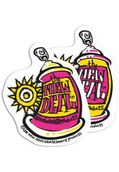 New Deal Spray Can Sticker