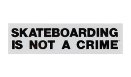 Santa Cruz Skateboarding is not a Crime Sticker