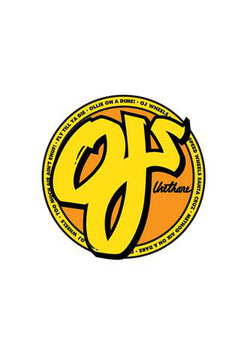 OJ Wheels Sticker yellow