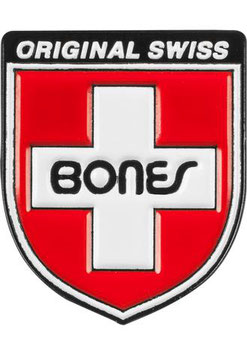 Bones Swiss Shield Pin