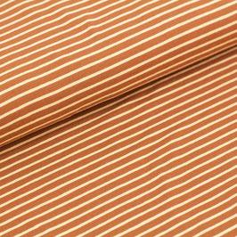 Biojersey Streifen / karamell / 0.5