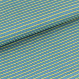 Biojersey Streifen / blau-grün / 0.5 m