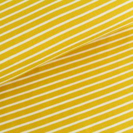 Biojersey Streifen / senfgelb / 0.5