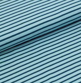 Biojersey Streifen /hellblau-dunkelblau/ 0.5 m