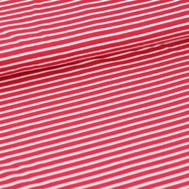 Biojersey Streifen rot-weiss /0.5