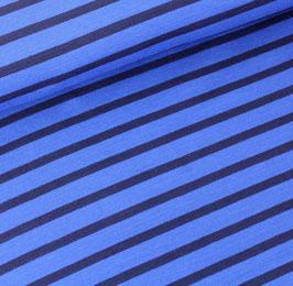 Biojersey Streifen / blau-marine / 0.5