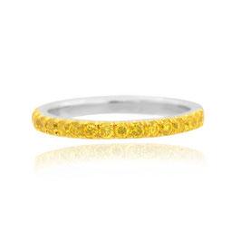 Canary Fancy Vivid Yellow Diamond Half Eternity Wedding Band