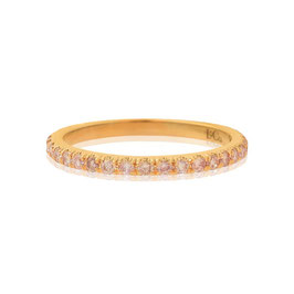 Fancy Pink Diamond Full Eternity Wedding Ring