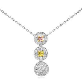 0.40 Carat, Multicolor diamond pendant, Round
