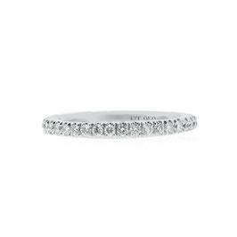 Platinum wedding set with Collection color diamonds