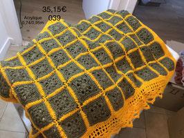 039 Petit plaid vert et jaune
