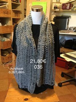 036 Echarpe gris pailleté